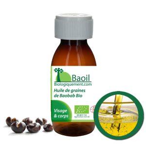 L'huile de baobab biologique de la marque Baoil