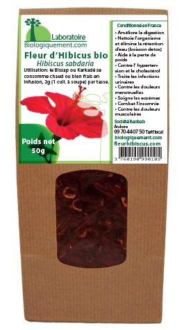 Fleur d'hibiscus biologique