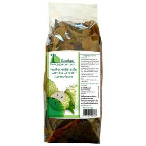 Sachet de feuilles entières de graviola corossol anticancer naturel
