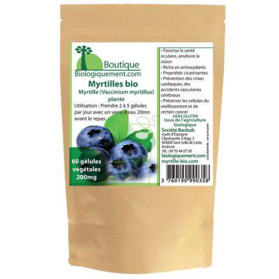 Gélules de myrtille bio