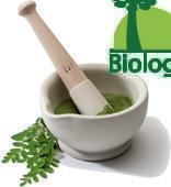 La poudre de feuille de Moringa bio produite par Biologiquement