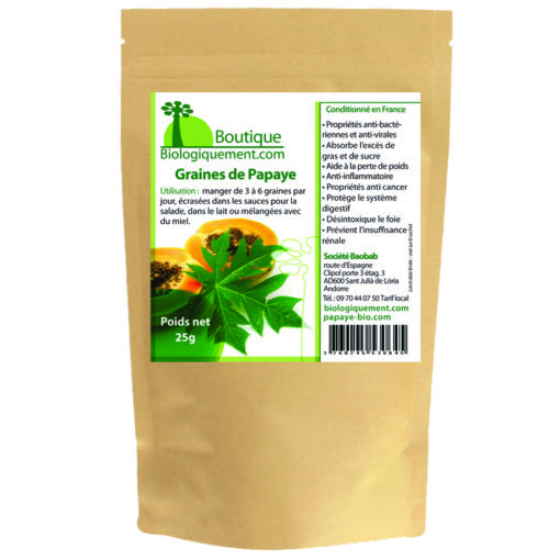 Sachet de graines de papaye anticancer naturel