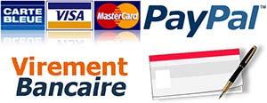 Mode de paiement 100% sécurisé sur Biologiquement, carte bancaire, Paypal, virement, chèque