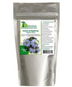 La graines de Nigelle bio plante pour le traitement anti cancer naturel puissant