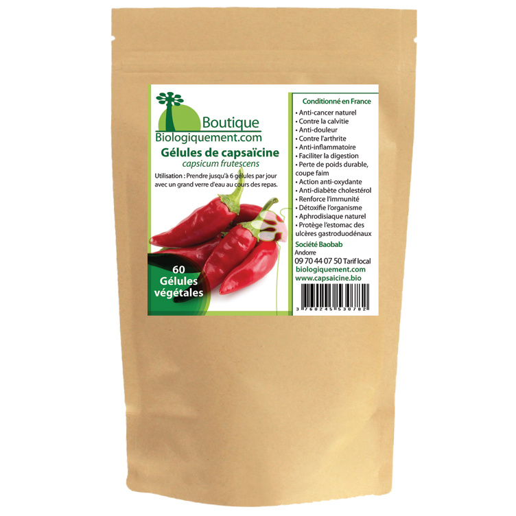 La Capsaïcine contenu dans le piment bio est un anti cancer naturel puissant