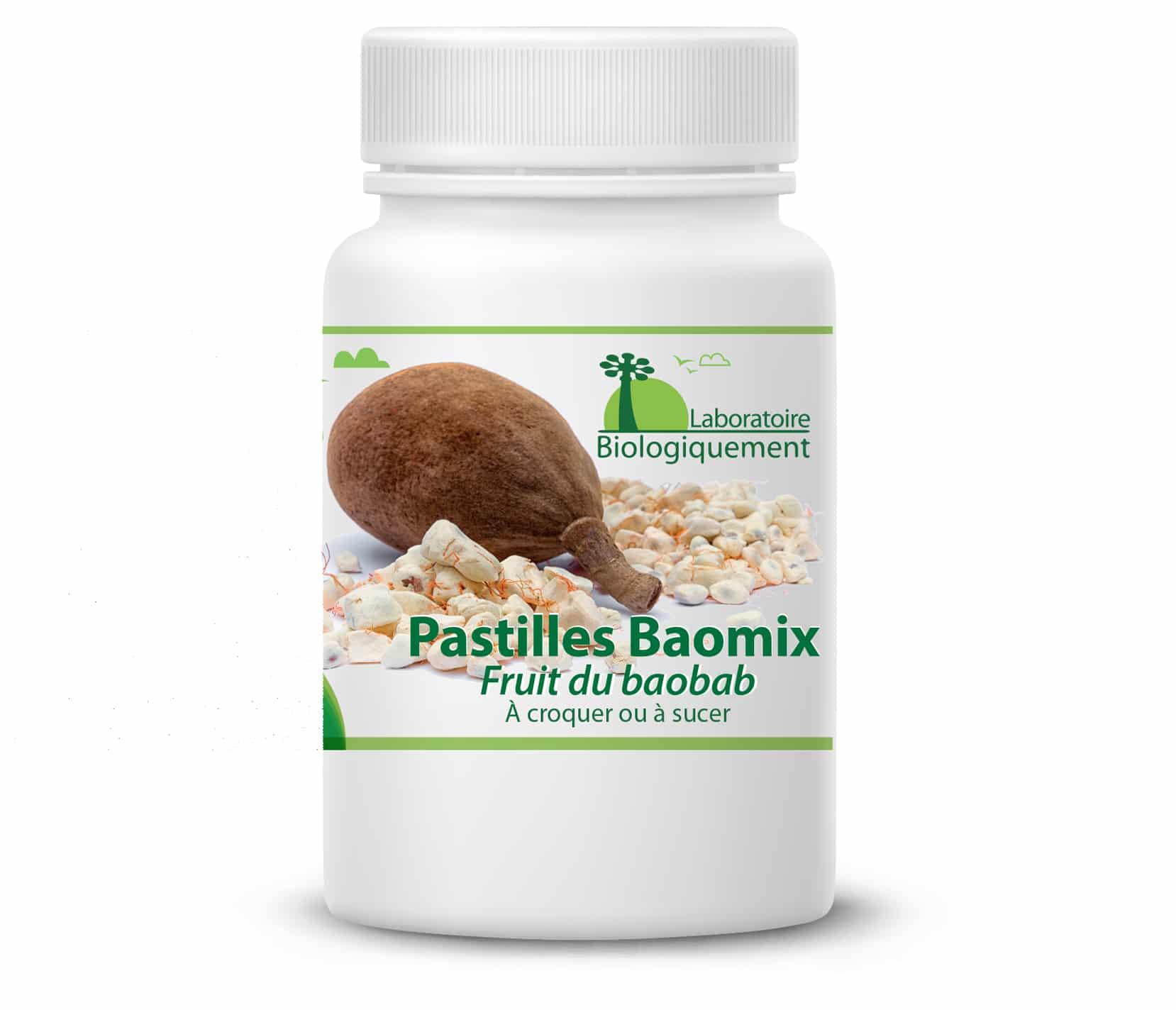 Pastilles de fruit de baobab bio Baomix