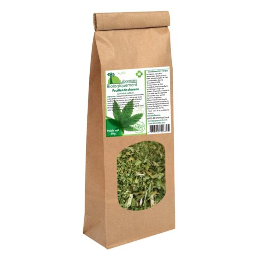 Feuilles de chanvre, cannabis bio 50g